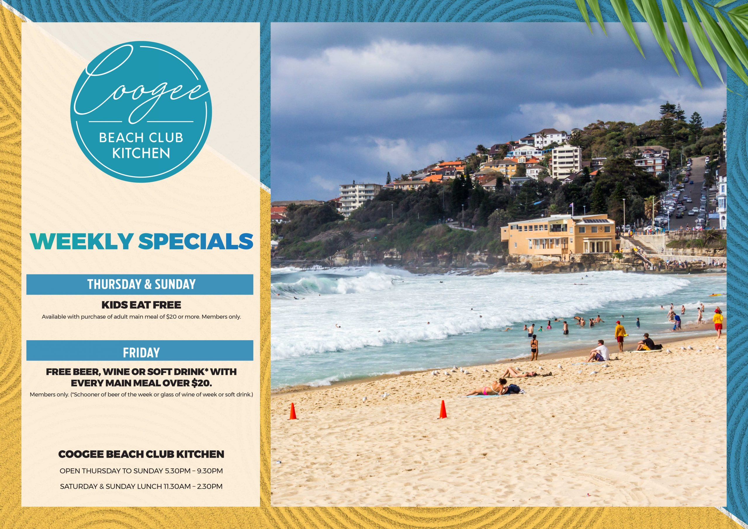 Coogee Beach Club Kitchen Specials